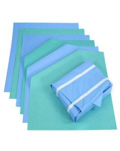 SHC - SMSB90X150P - Sterilisation Smms Wrap Blue+green Premium Quality 90cmx150cm